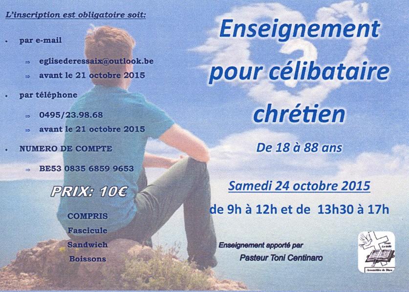 Préférence Séminaire pour célibataires chrétiens à Binche | L'agenda chrétien YB28